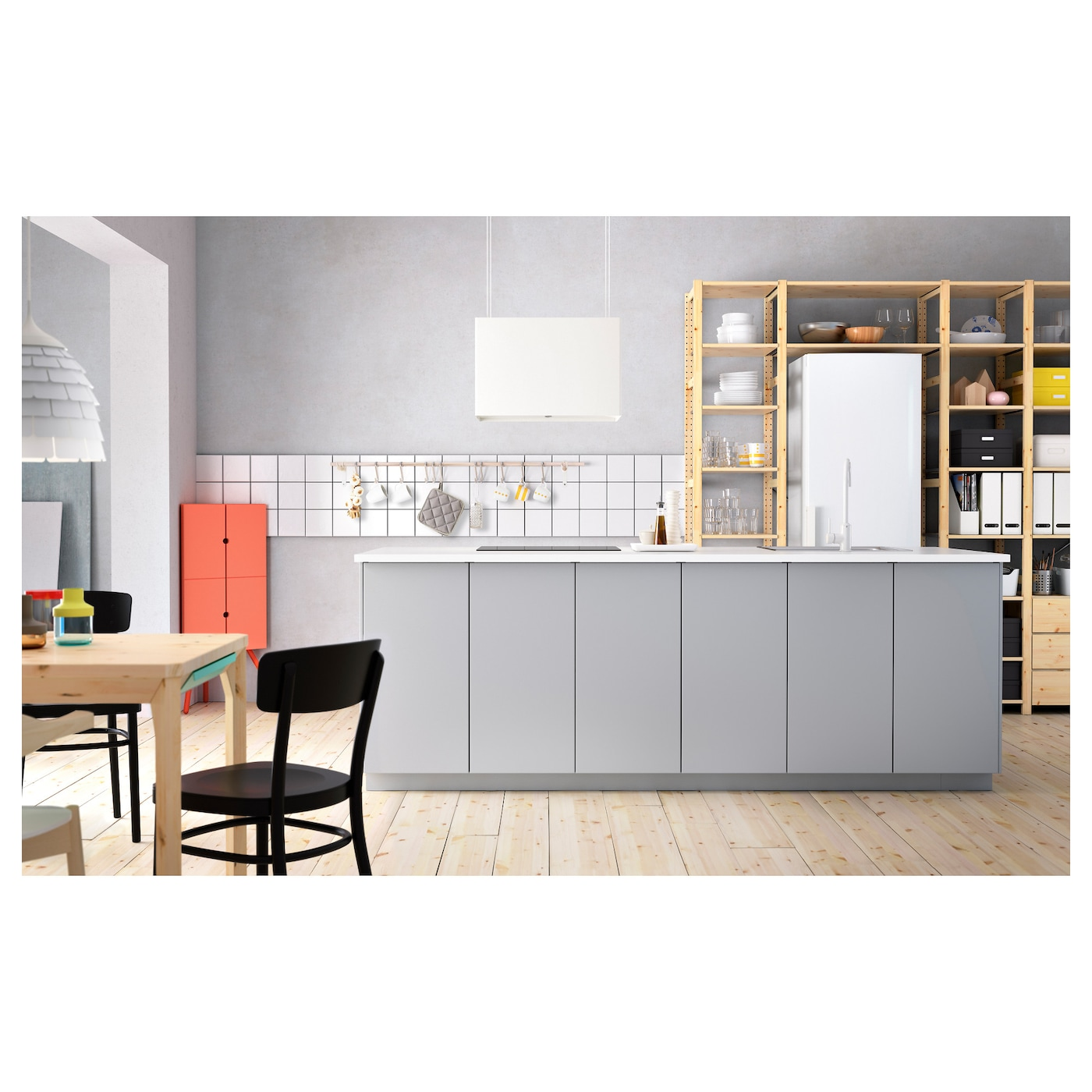 Veddinge door grey 40x80 cm ikea - Facade meuble cuisine ikea ...