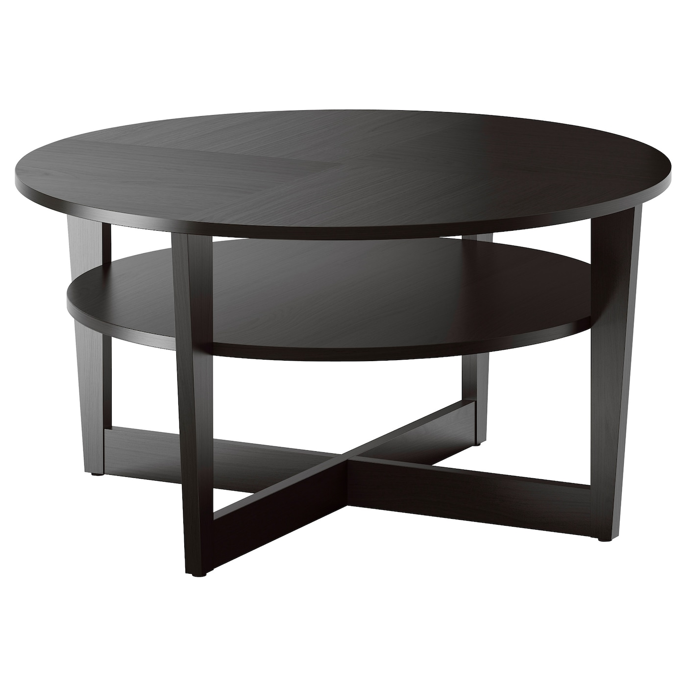 Vejmon coffee table black brown 90 cm ikea for Base de table ikea