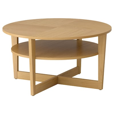 VEJMON coffee table oak veneer 47 cm 90 cm