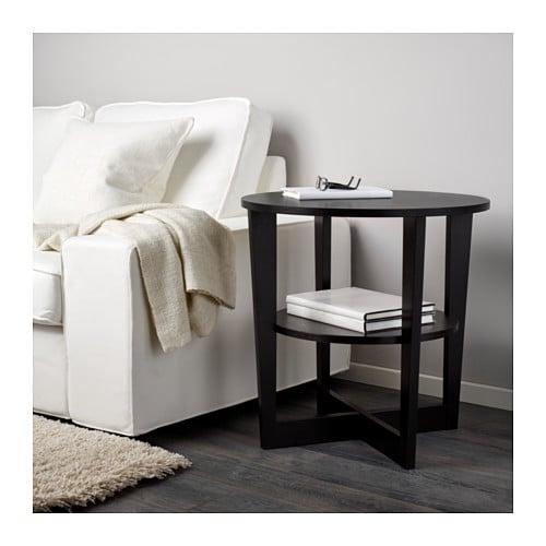 Black Side Table vejmon side table black-brown 60 cm - ikea