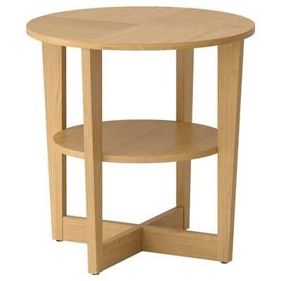 VEJMON Side table, oak veneer, 60 cm