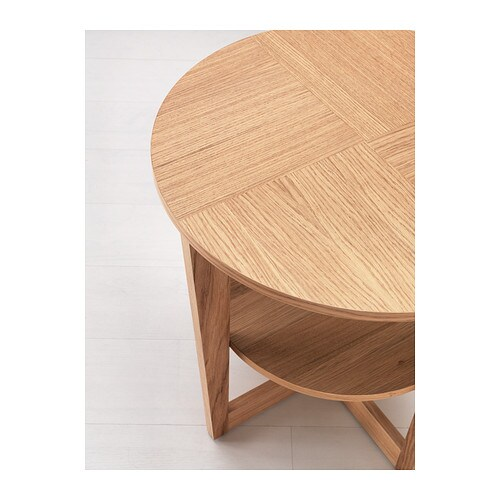 Vejmon Side Table Oak Veneer 60 Cm Ikea