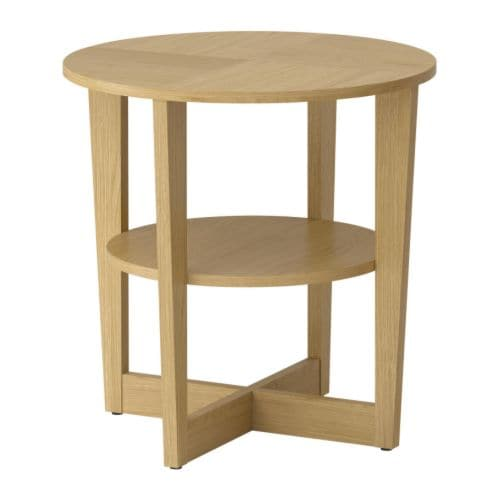 Vejmon Side Table Oak Veneer Ikea