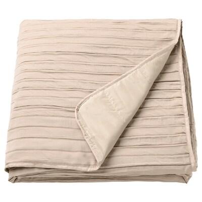 VEKETÅG Bedspread, beige, 160x250 cm