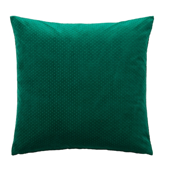 VENCHE cushion cover dark green 50 cm 50 cm