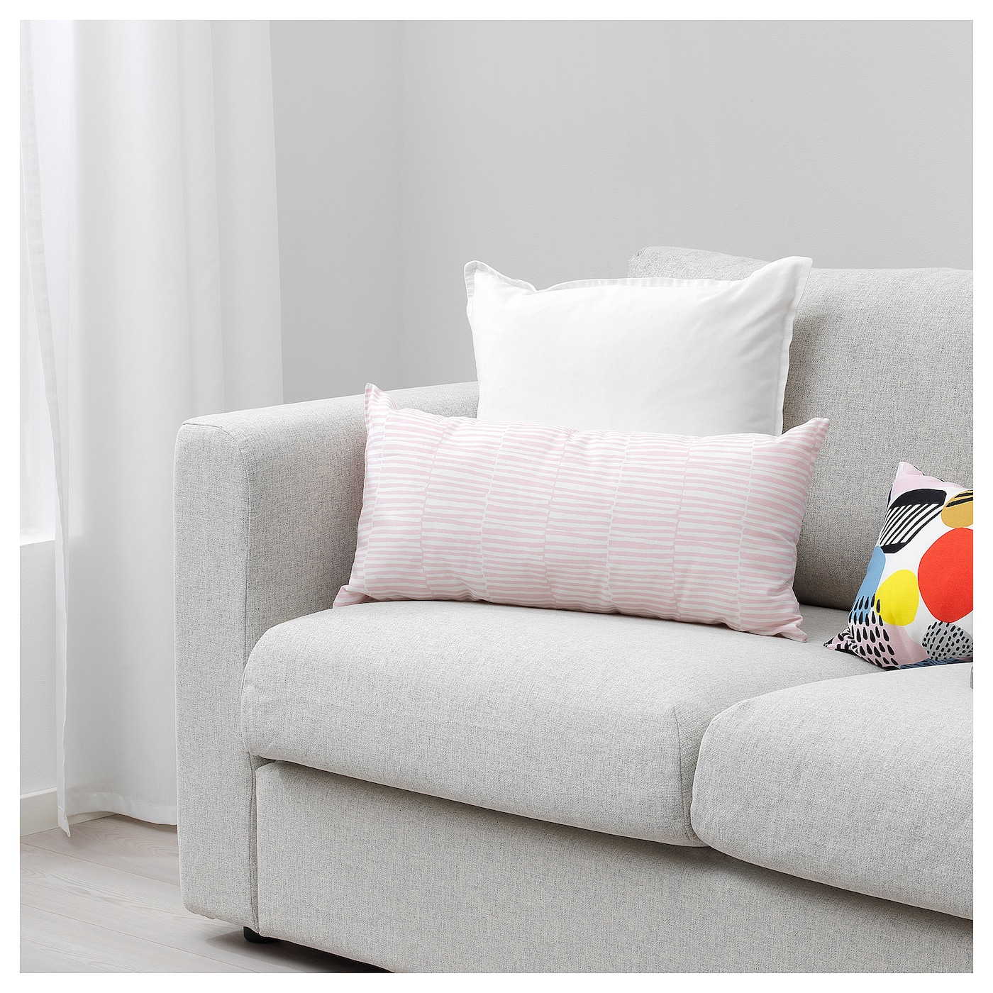 IKEA VENDLA cushion The polyester filling holds its shape and gives your body soft support.