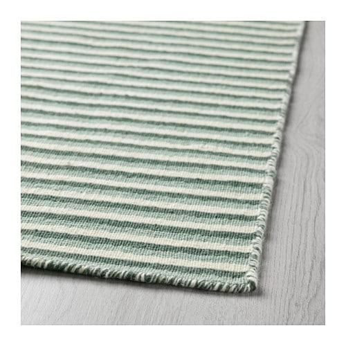 VESTBIRK Rug, Flatwoven Handmade/green 133x195 Cm