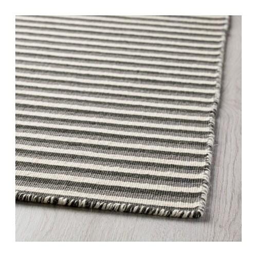 Ikea Rug Felt: VESTBIRK Rug, Flatwoven Handmade/grey 133x195 Cm