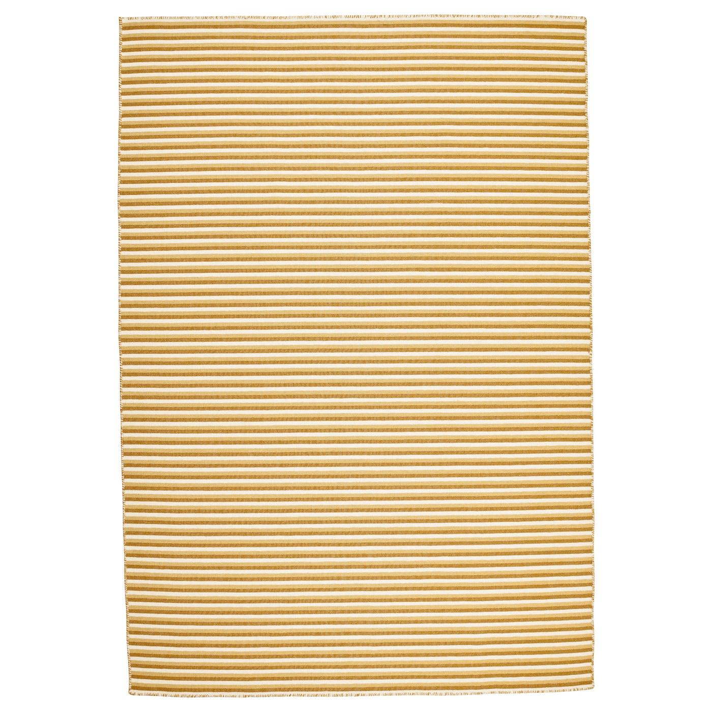 Ikea Rug Felt: VESTBIRK Rug, Flatwoven Handmade/yellow 133x195 Cm