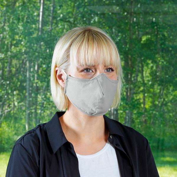 VETSKAP Reusable community mask, non-med, light grey, M