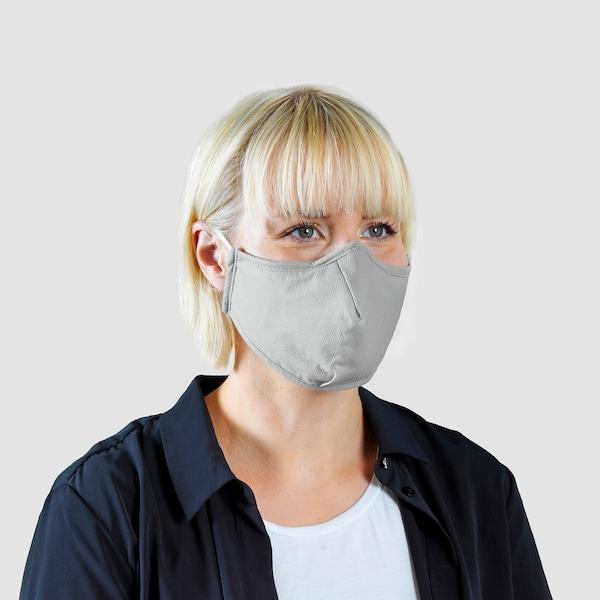 VETSKAP Reusable community mask, non-med, light grey, L
