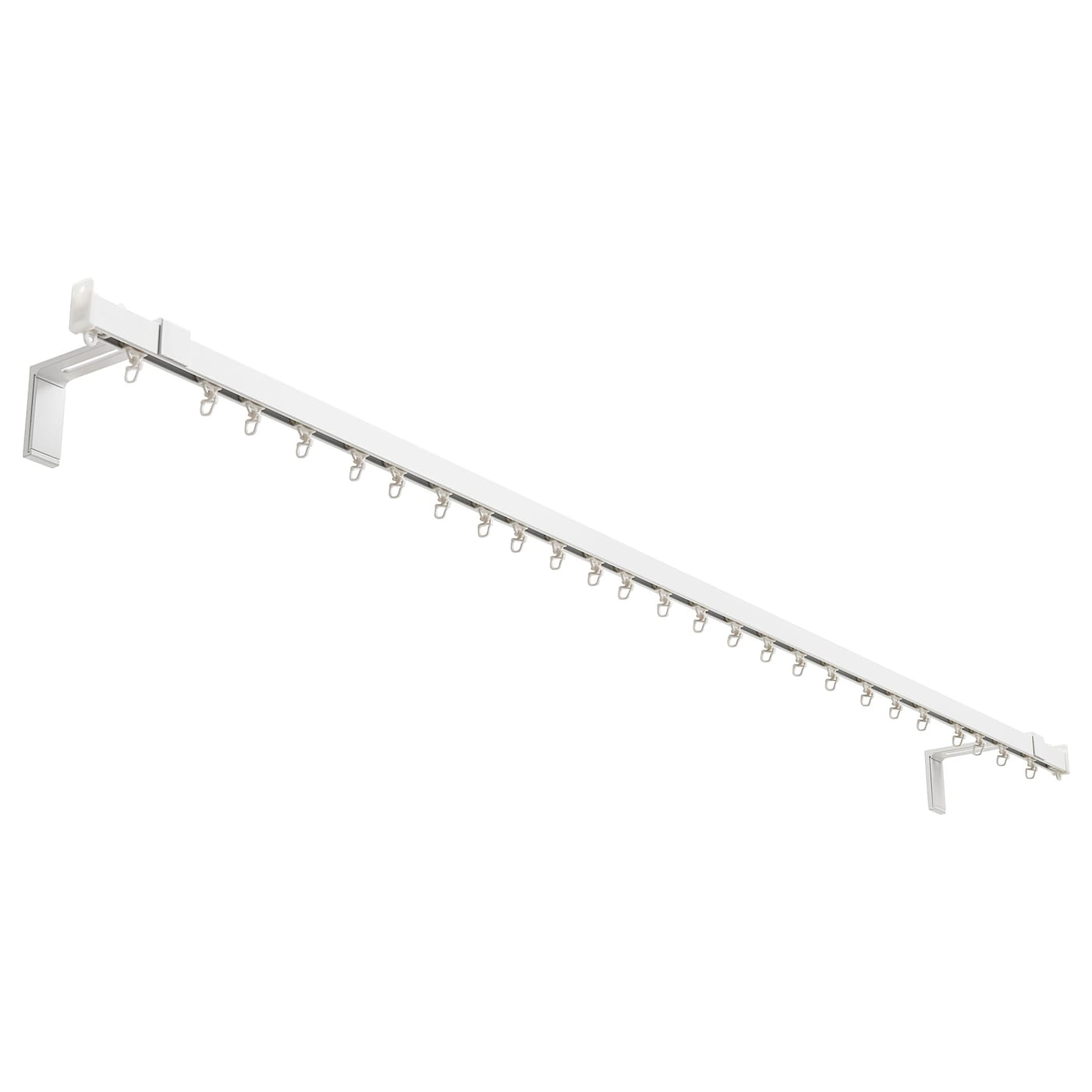 IKEA VIDGA single track set for wall The rail can be cut to the desired length with a hacksaw.