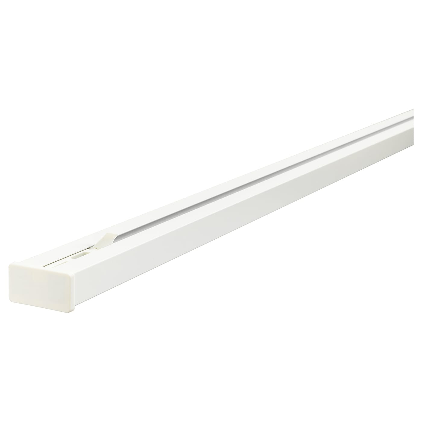 IKEA VIDGA triple track rail The rail can be cut to the desired length with a hacksaw.