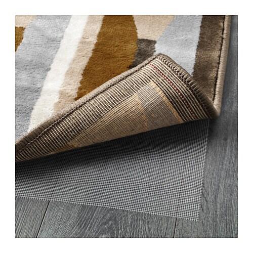 Vidstrup rug low pile dark yellow 170x240 cm ikea for Yellow rugs ikea