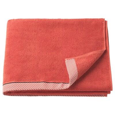 VIKFJÄRD Bath towel, red, 70x140 cm