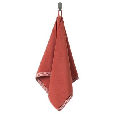 VIKFJÄRD hand towel red 100 cm 50 cm 0.50 m² 475 g/m²