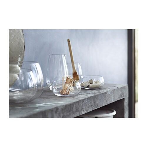 viktigt bowl set of 2 clear glass ikea. Black Bedroom Furniture Sets. Home Design Ideas