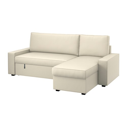 Vilasund marieby sofa bed with chaise longue min depth for Chaise longue bed