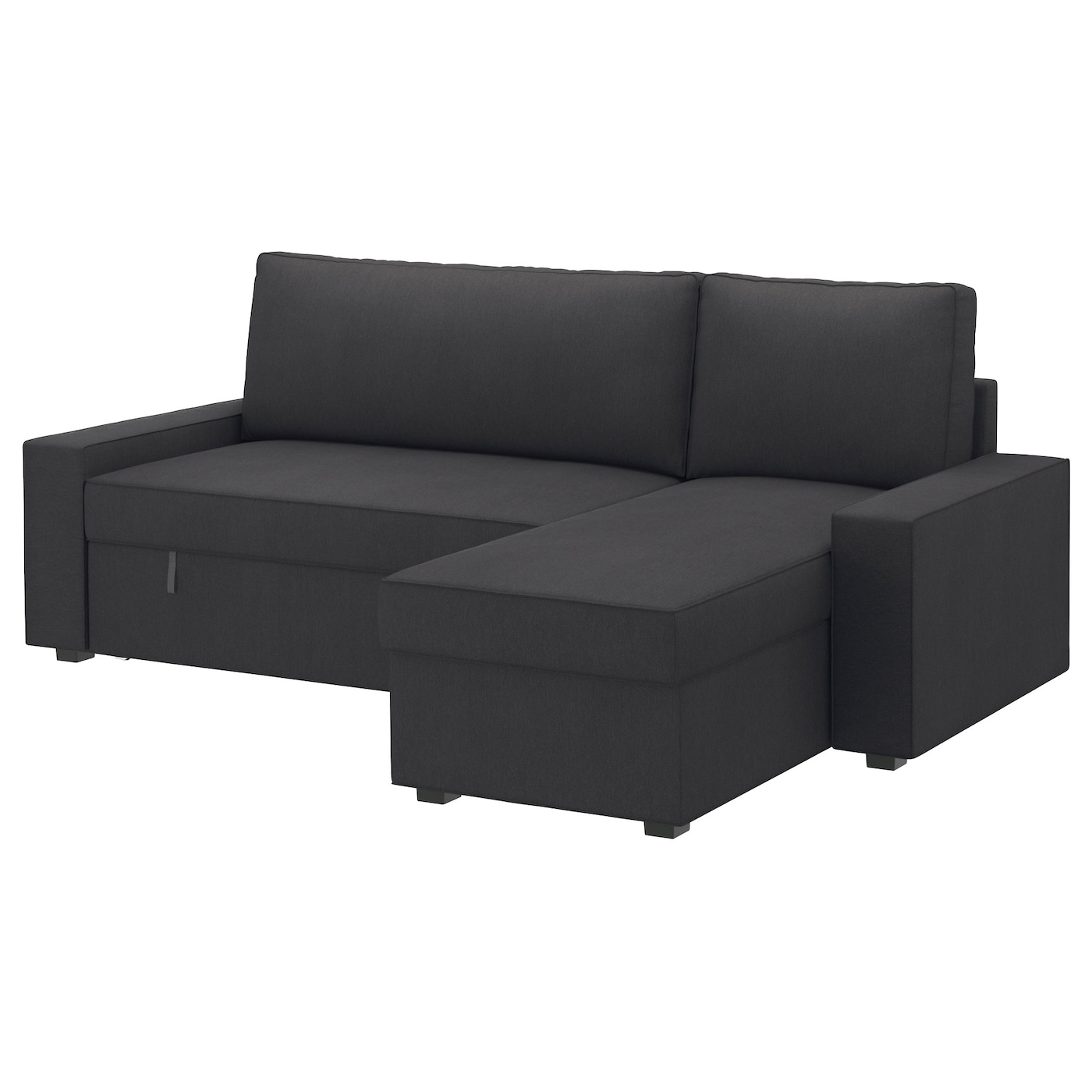 Vilasund sofa bed with chaise longue dansbo dark grey ikea - Chaise longue jardin ikea ...
