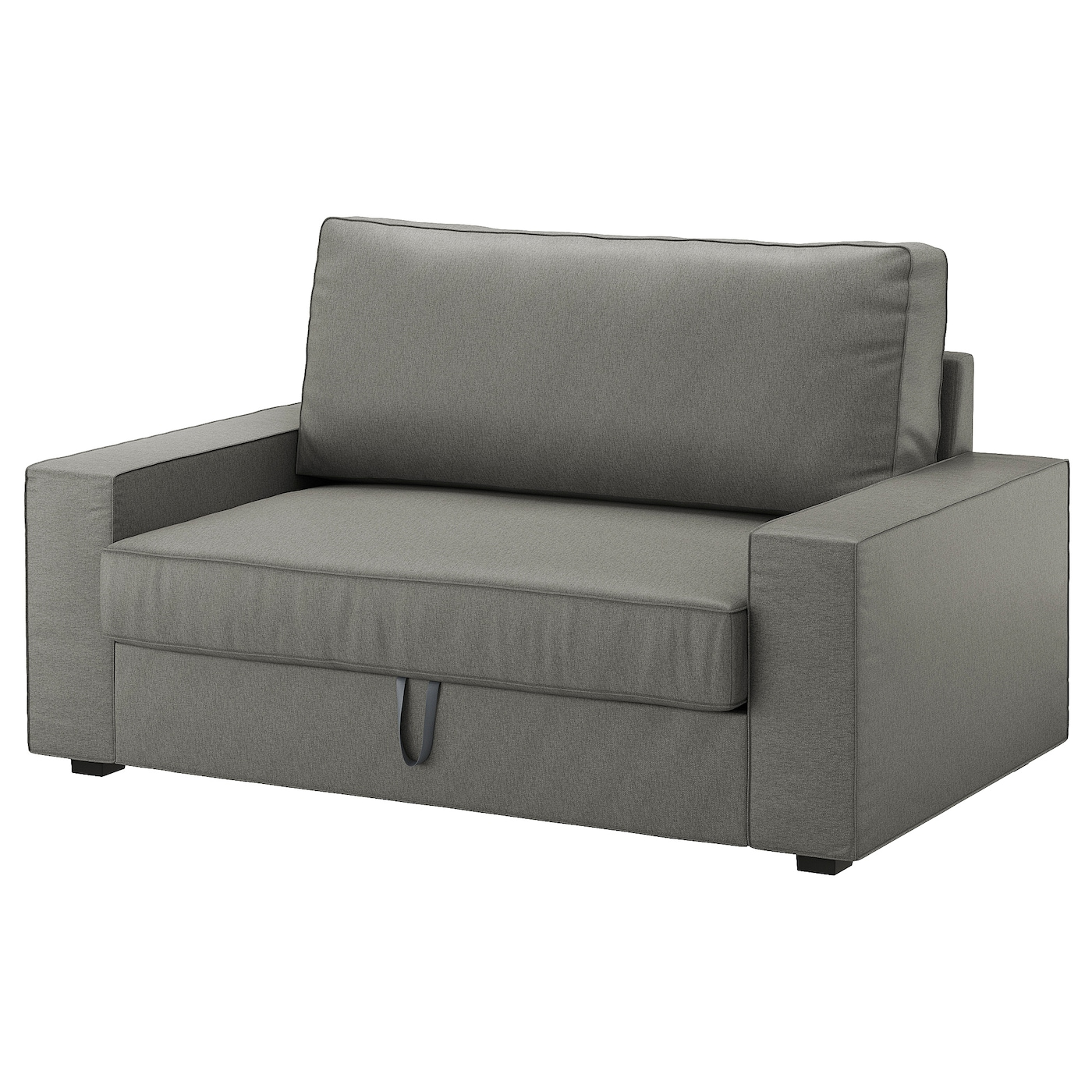 Vilasund two seat sofa bed borred grey green ikea for 90 cm sofa bed