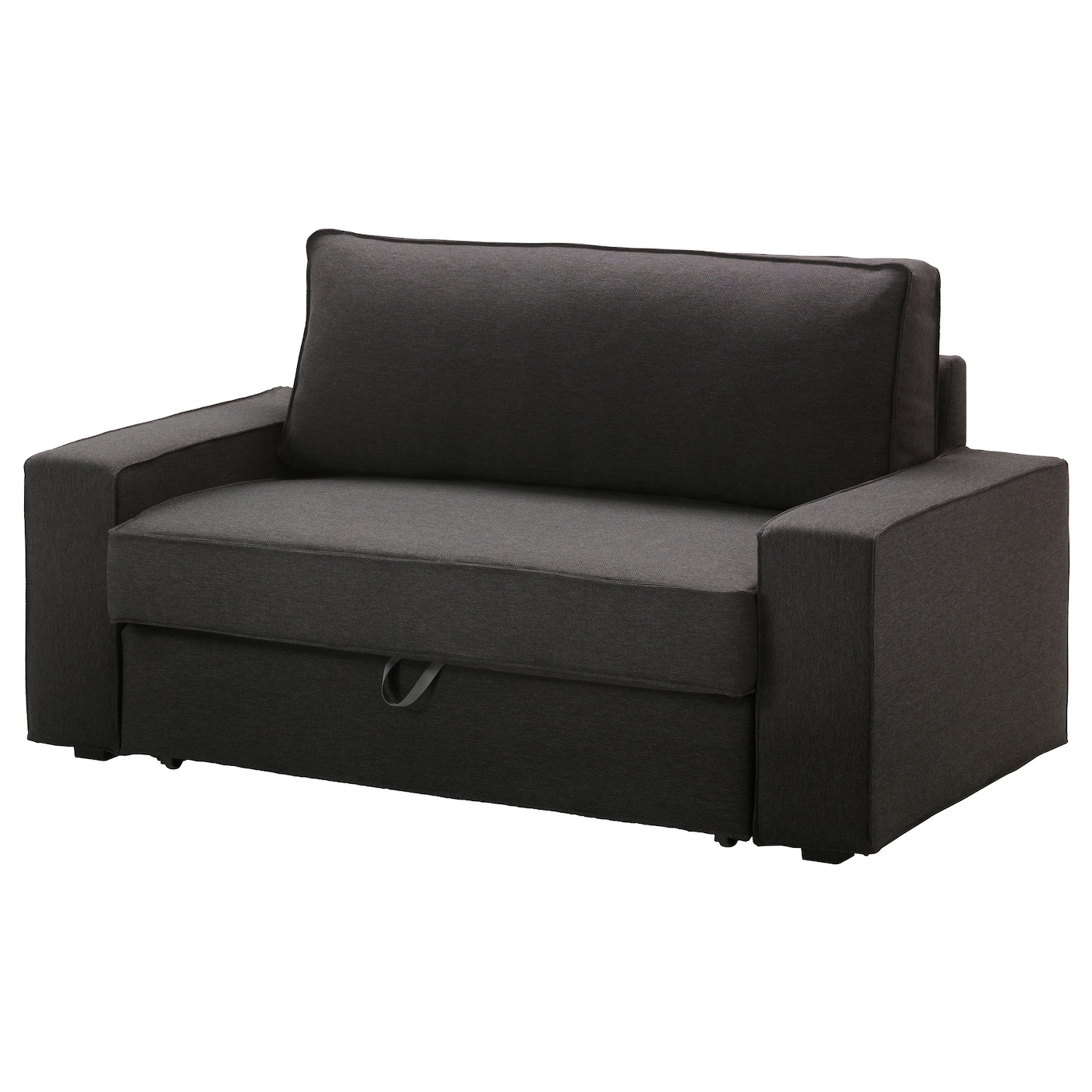 Vilasund two seat sofa bed dansbo dark grey ikea for Couch und sofa fürth