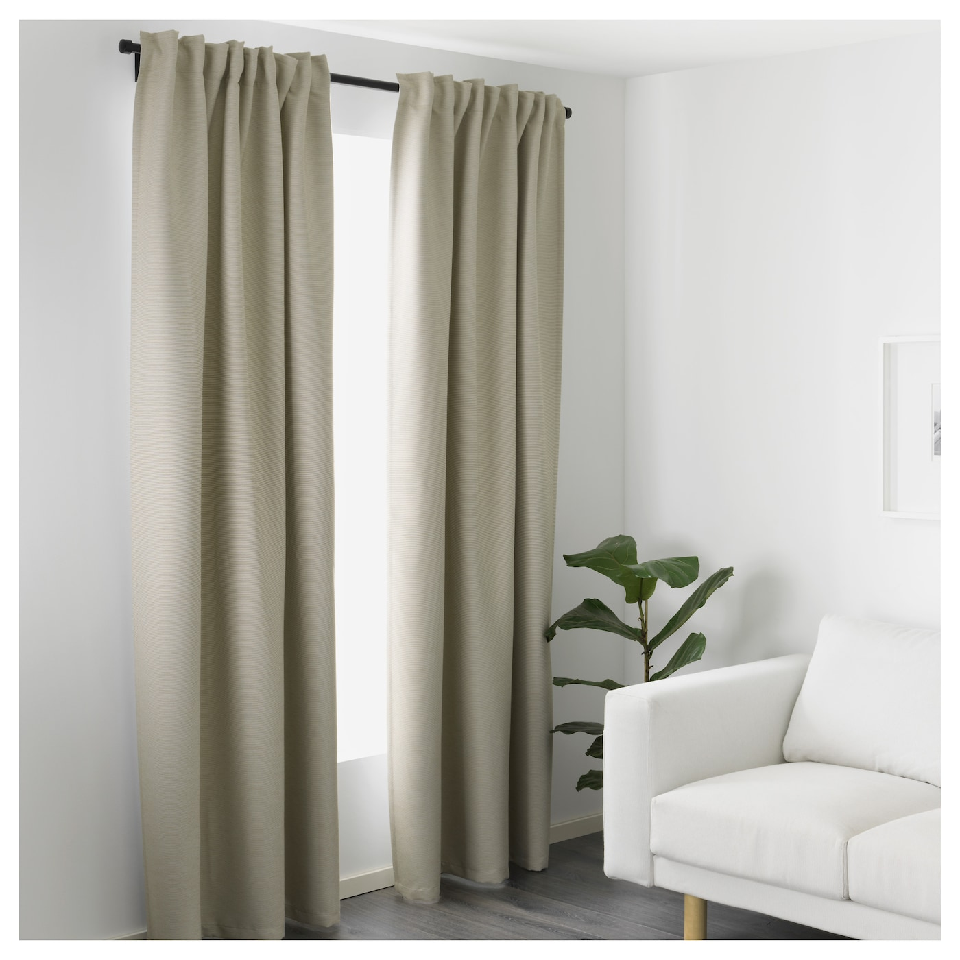vilborg curtains 1 pair beige 145x250 cm ikea