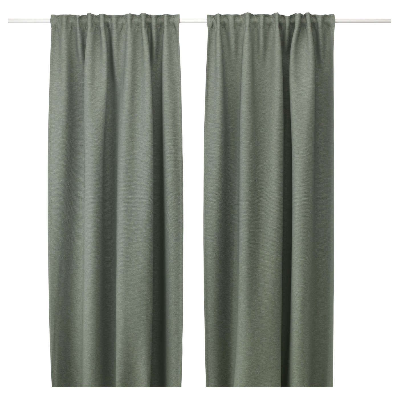 vilborg curtains 1 pair green 145x250 cm ikea. Black Bedroom Furniture Sets. Home Design Ideas