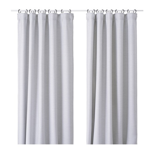 Vilborg Curtains 1 Pair Light Grey 145 X 250 Cm Ikea