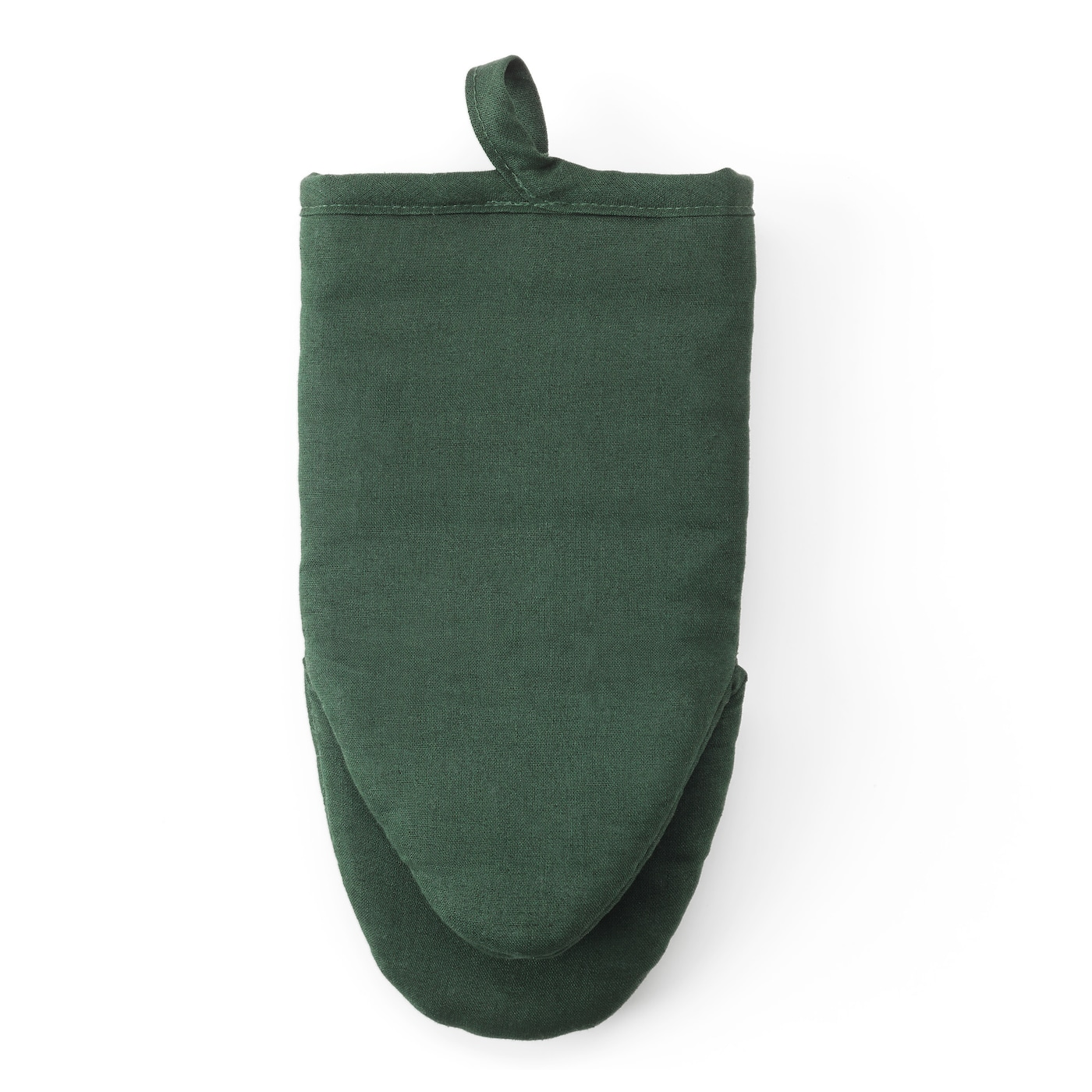 IKEA VILDKAPRIFOL oven glove Felted polyester layer in between gives very good heat insulation.