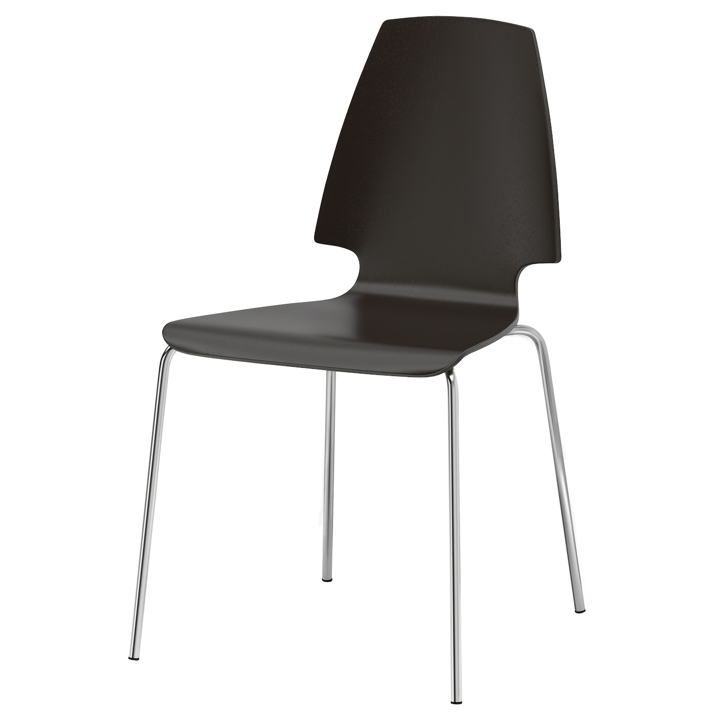 Ingolf Chair Brown Black: VILMAR Chair Brown-black/chrome-plated