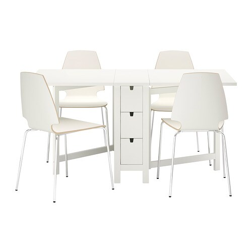 IKEA VILMAR/NORDEN table and 4 chairs