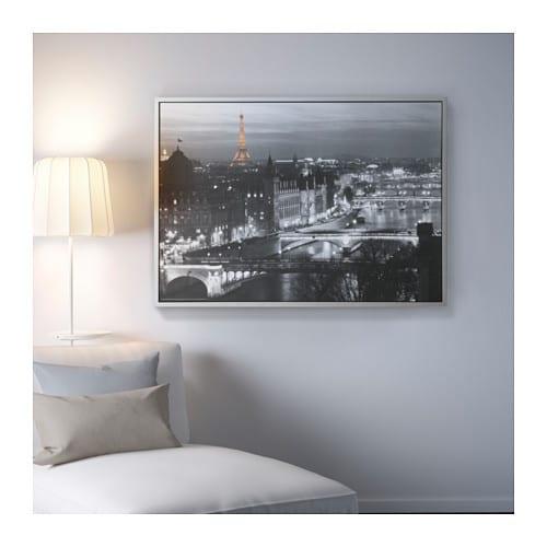Vilshult picture paris 140x100 cm ikea for Decoration murale ikea