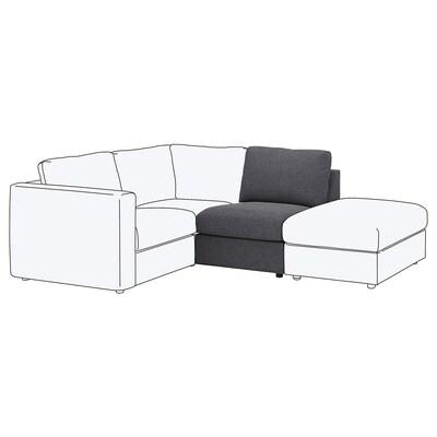 VIMLE 1-seat section, Gunnared medium grey