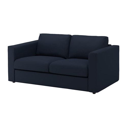 VIMLE 2 seat Sofa Grsbo Black blue IKEA