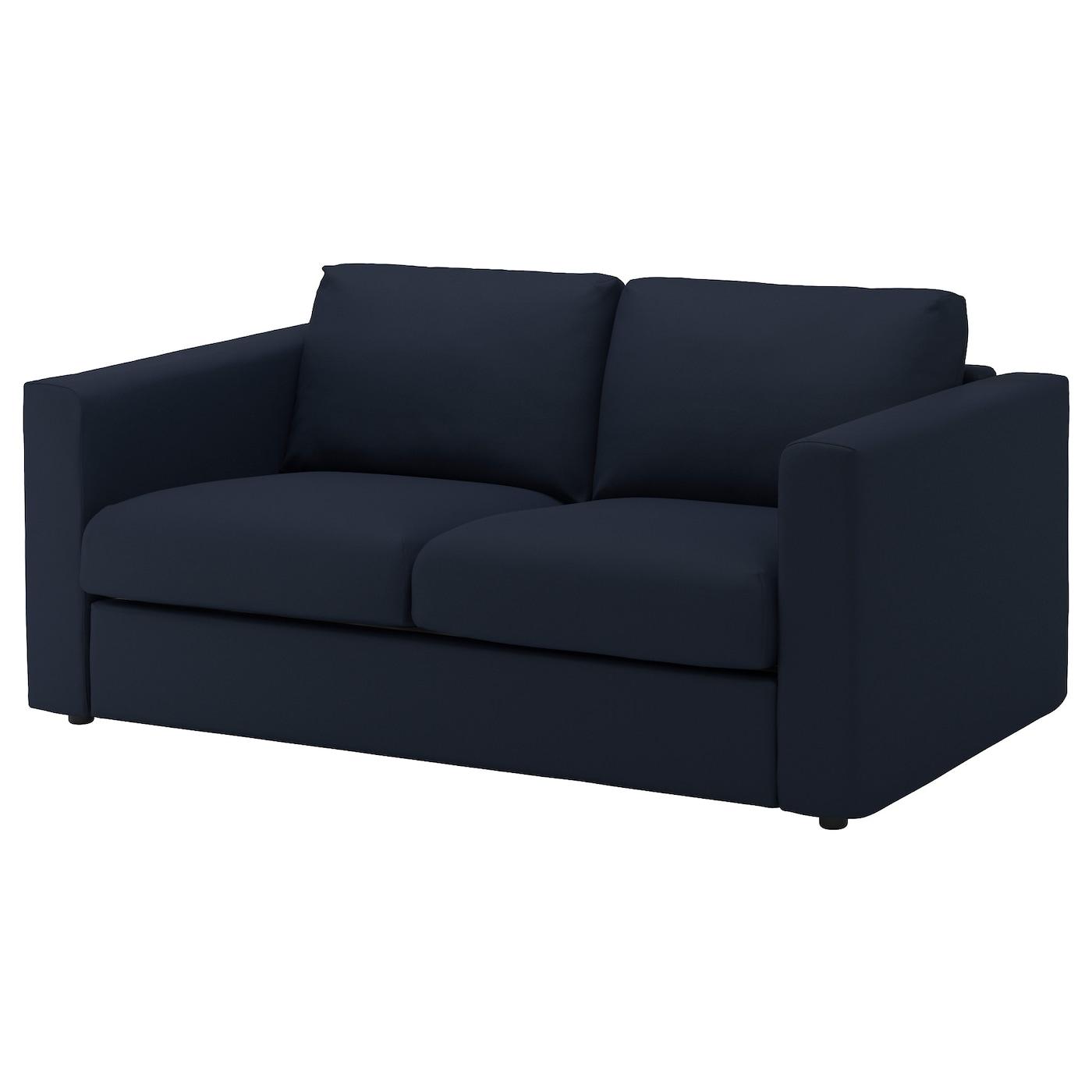 VIMLE 2 seat sofa Gräsbo black blue IKEA