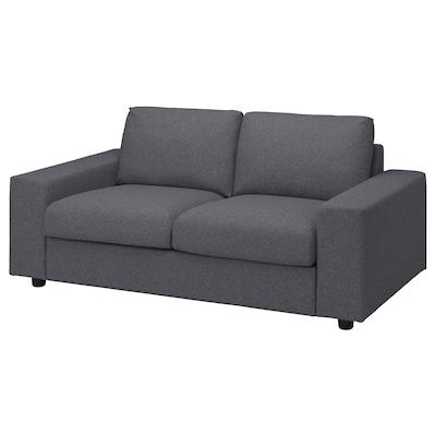 VIMLE 2-seat sofa, with wide armrests Gunnared/medium grey