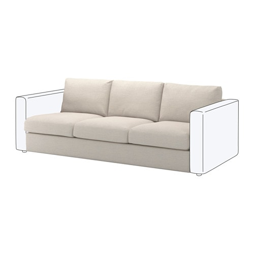 Vimle 3 seat section gunnared beige ikea for Beiges sofa welche wandfarbe