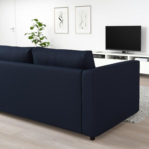 Vimle 3 Seat Sofa Bed Gr 228 Sbo Black Blue Ikea