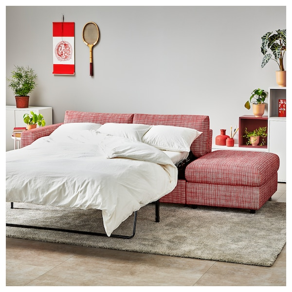 VIMLE 3 seat sofa bed   with open end, Dalstorp ...