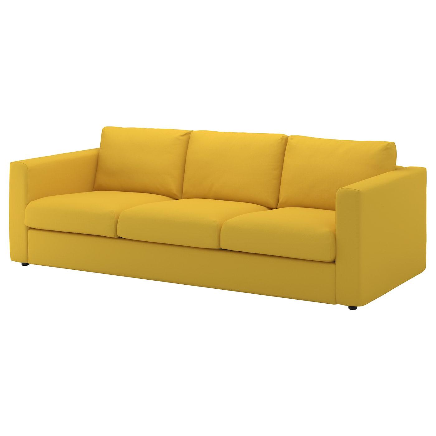 IkeaYellowSofaVimle3SeatSofaWithChaiseLongue