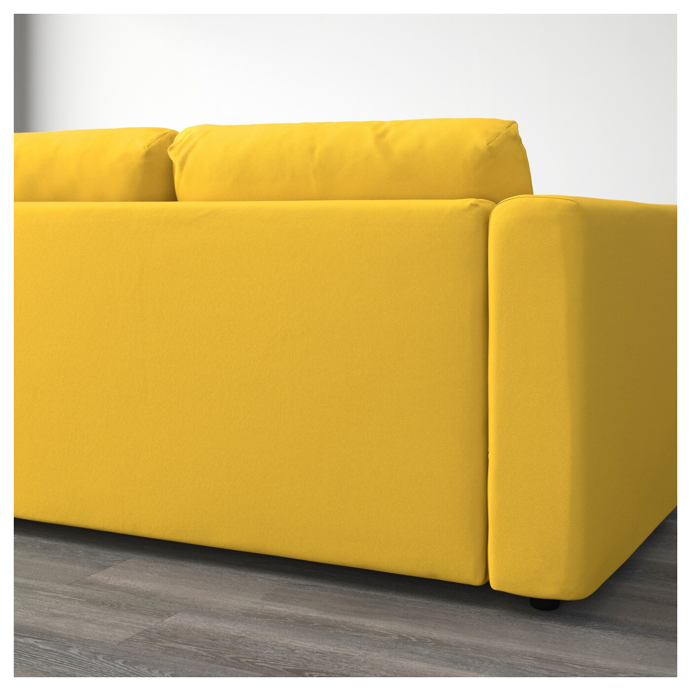 VIMLE 3 seat sofa Gräsbo golden yellow IKEA