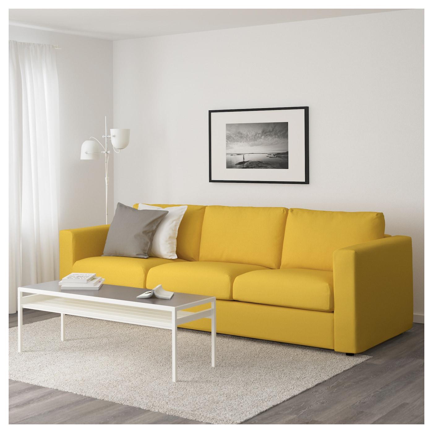 VIMLE 3-seat Sofa Gräsbo Golden-yellow