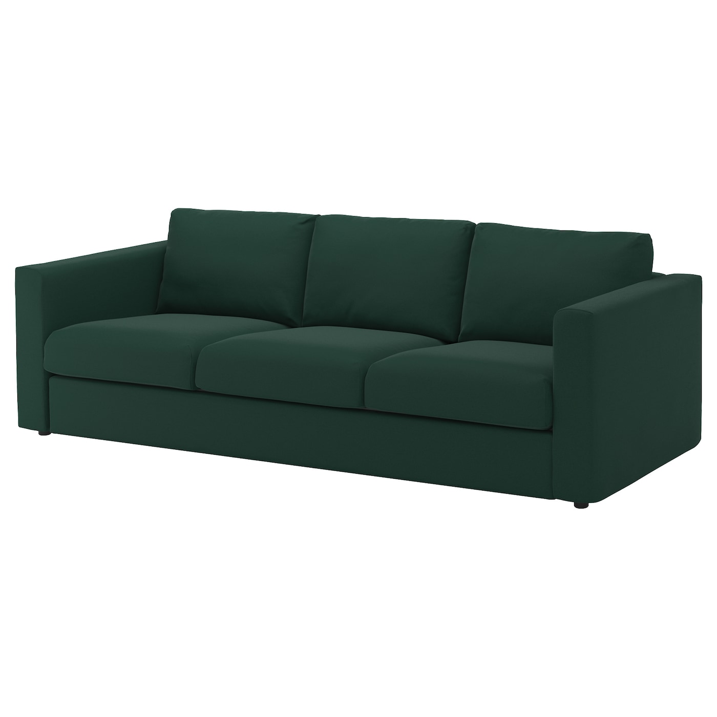 vimle 3 seat sofa gunnared dark green ikea. Black Bedroom Furniture Sets. Home Design Ideas