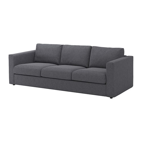 Vimle 3 seat sofa gunnared medium grey ikea for Sofas de 4 plazas baratos
