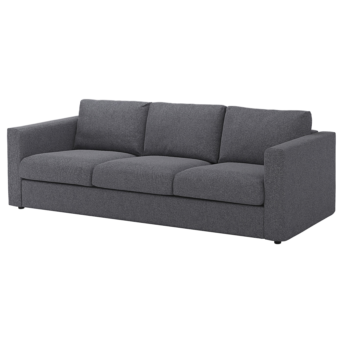 Vimle 3 seat sofa gunnared medium grey ikea for Canape vimle ikea