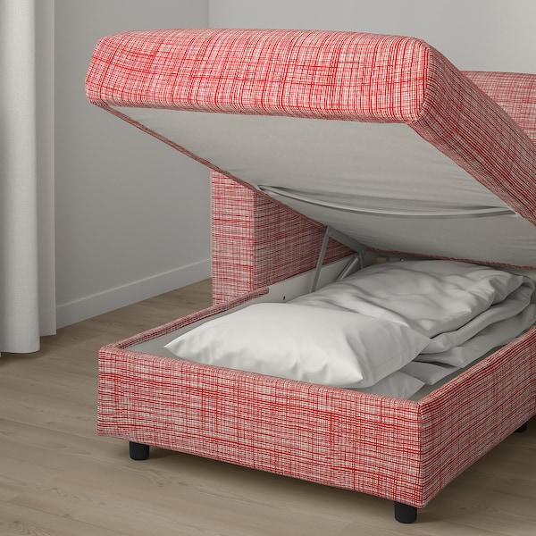 VIMLE 3-seat sofa, with chaise longue/Dalstorp multicolour