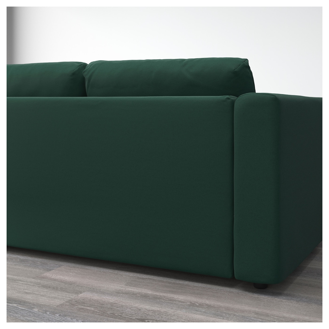 Vimle 3 seat sofa with chaise longue gunnared dark green for 3 seat sofa with chaise