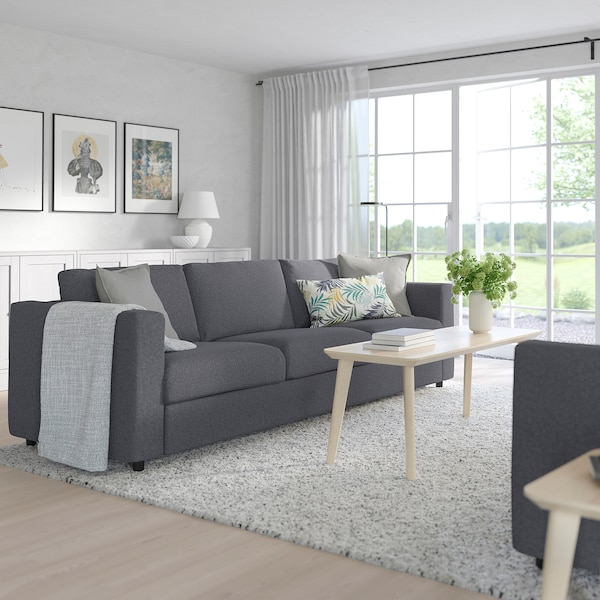 Vimle Gunnared Medium Grey 3 Seat Sofa