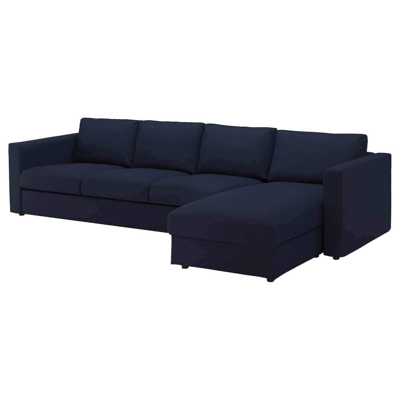 4 Seat Sofa Vimle With Chaise Longue Grasbo Black Blue