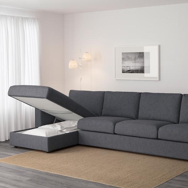 VIMLE 4-seat sofa with chaise longue/Gunnared medium grey 83 cm 68 cm 164 cm 322 cm 98 cm 125 cm 6 cm 15 cm 68 cm 292 cm 55 cm 48 cm